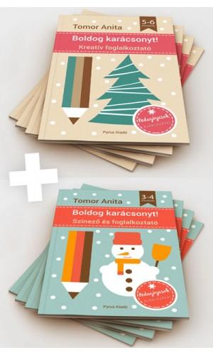 Kreatív karácsonyi foglalkoztató füzetek gyerekeknek